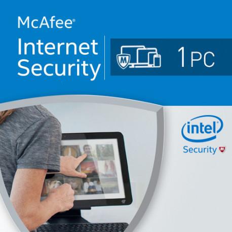 McAfee Internet Security 2016 1 PC licencja na rok
