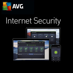 AVG Internet Security, 4 PC, 1 Year, ESD, Download Software, Win, English