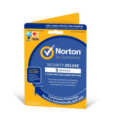 Norton Security Deluxe 2021 1 User & 5 Devices - 1 Year Subscription With Automatic Renewal
