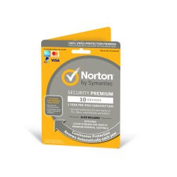 Norton Security Premium 2021 1 User & 10 Devices 1 Year Subscription With Automatic Renewal
