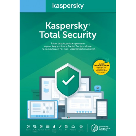 Kaspersky Total Security 2020 - 10 Devices - 1 Year - Antivirus, Secure VPN and Password Manager Included